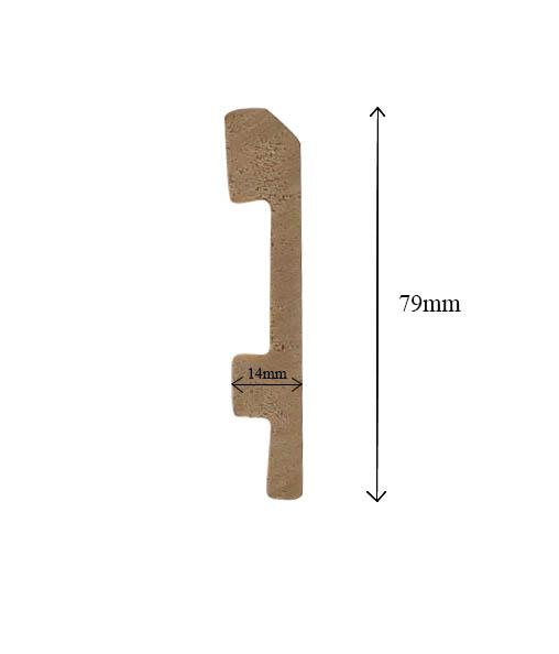 Len chân tường nhựa cao 7.9cm S79