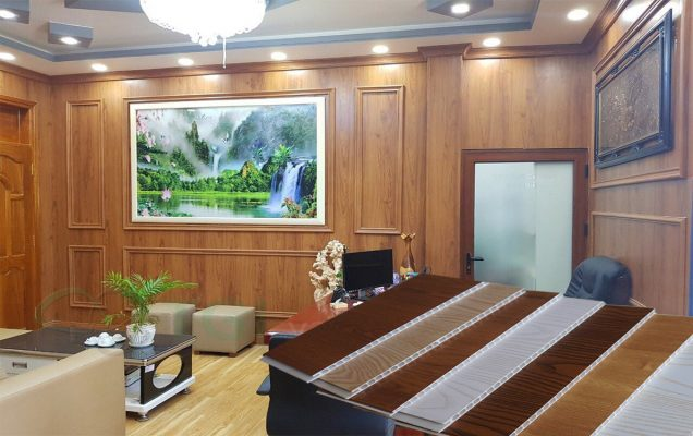 Tấm ốp PVC nano trang trí phòng khách