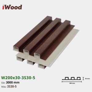 Tấm ốp tường trần 3 sóng iWood 3S30-5