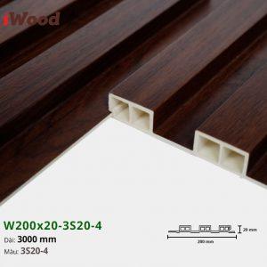 Tấm ốp tường trần 3 sóng iWood 3S20-4