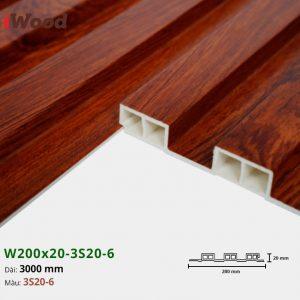 Tấm ốp tường trần 3 sóng iWood 3S20-6