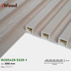 Tấm ốp tường trần 5 sóng iWood 5S20-1