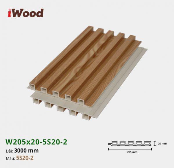 Tấm ốp tường trần 5 sóng iWood 5S20-2