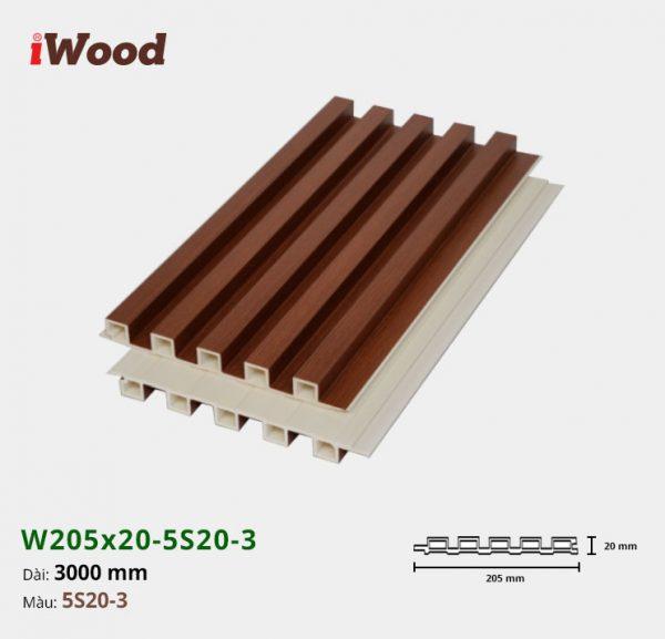 Tấm ốp tường trần iWood 5 sóng 5S20-3